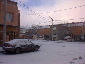 Nieve en la esquina